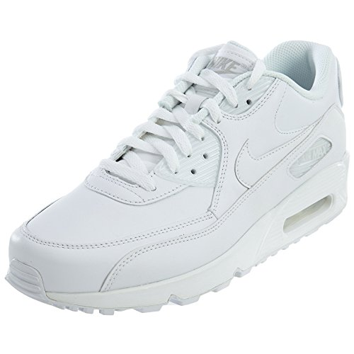 Nike Air Max 90 Leather Herren Sneakers, weiß (white/white), 44 EU