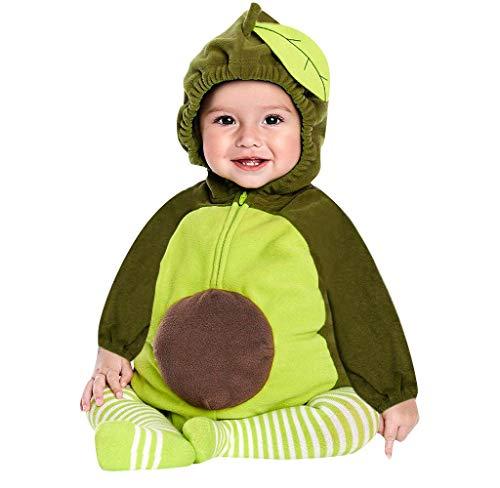 Jimmackey- Bambina Frutta Infantile Natale Completini, Cappuccio Pagliaccetto Neonato Invernale Bambina Tutina Neonato 0-3 Mesi Invernali Ciniglia Cappotto Bebè Tutine Felpa