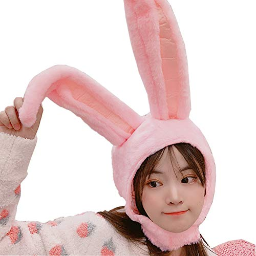 IUTOYYE Easter Bunny Hat Cute Rabbit Ears Costume Funny Party Favors Hats Easter Decorations (PINK)