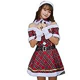 Abito Natale Donna Elegante Donne Regalo Costume di Cosplay del Vestito di Ballo + Cappello + Cintura + Polsino + Collari Abito Donna Natale Mecohe