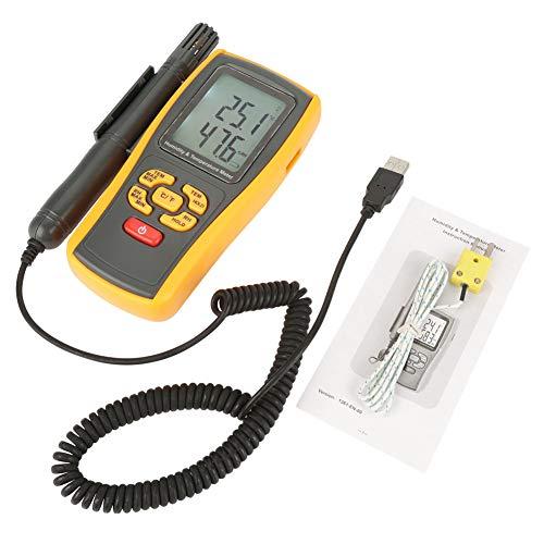 GM1361 Medidor digital de temperatura de humedad digital Termómetro higrómetro para la industria agrícola Meteorología -10 ℃ a 50 ℃ Tipo K -30 ℃ a 1000 ℃
