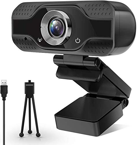 Webcam with Microphone, USB Webcam,Desktop Laptop Webcam, XXQCNCT 1080P HD Webcam with Tripod,Web Camera with Microphone, for Video Calling Recording Conferencing