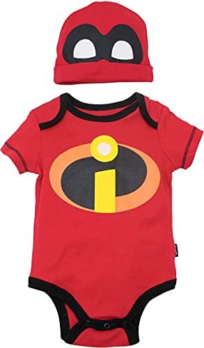 Disney Pixar Pixar Incredibles Baby Boys Short Sleeve Bodysuit Hat Set 6-9 Months