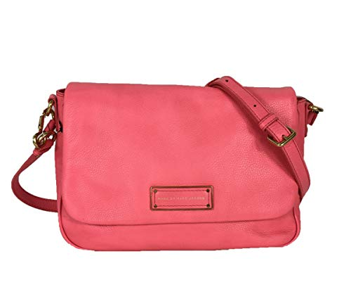 Marc by Marc Jacobs Too Hot To Handle Lea Flap Crossbody, Bright Coral (Marc Jacobs Too Hot To Handle Handbag)