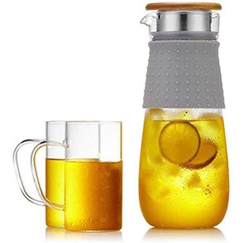 ZHANG Taza De Tetera, Tetera, Tetera De Vidrio, Hervidor De Vidrio Doméstico De Alta Temperatura, Juego De Agua Fría, Botella De Filtro Espesante