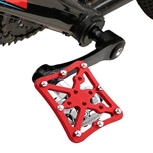 HUANGMENG Boutique Sola Bici del Camino Universal Automáticos al Adaptador de Plataforma Pedales for Bicicletas MTB, Tamaño: Pequeño (Negro) (Color : Red)