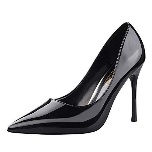 Life&Women Scarpe Tacco Alto Donna Classico High Heels Alto Lavoro Festa Elegante Scarpe de Moda décolleté a Punta Tacco Taglia 10 CM