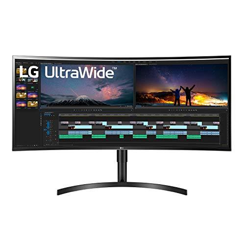 LG 38WN75C-B 38'' UltraWide QHD+ HDR IPS Curved Monitor - Textured Black, Silver Spray, High Glossy Black