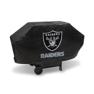 NFL Rico Industries Vinyl Padded Deluxe Grill Cover, Oakland Raiders