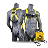 KwikSafety (Charlotte, NC) TORNADO 1D Fall Protection Full Body Safety Harness   OSHA ANSI Industrial Roofing Tool Personal Protection Equipment   Construction Carpenter Scaffolding Contractor