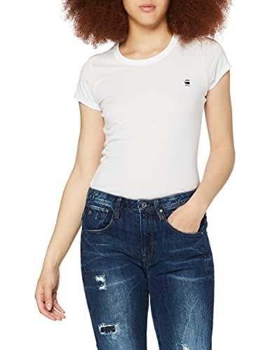G-STAR RAW Eyben Slim T-Shirt, Weiß (White 2757-110), L para Mujer