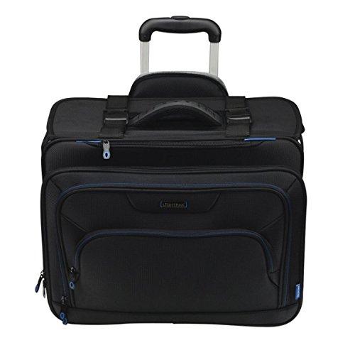 Lightpak Businesstrolley PIONEER, Pilotenkoffer aus Polyester, Businesskoffer mit Organizer-Fach Koffer, 47 cm, 28 Liter, Schwarz