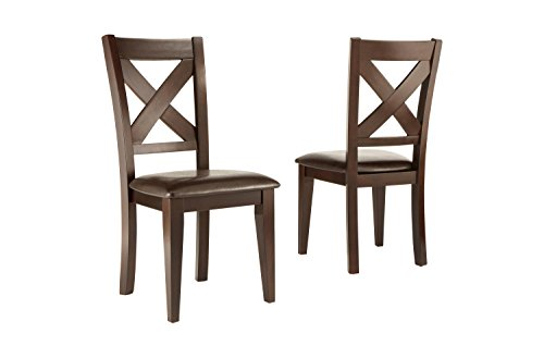 Aprodz Mango Wood Porto Dining Chair Set for Home   Set of 2 Chair   Brown Finish