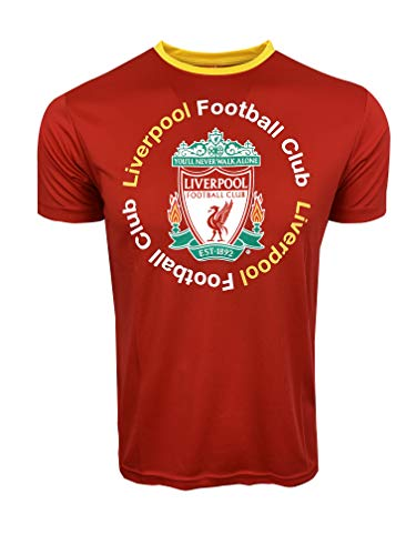 Liverpool Official F.C. Shirt for Kids, Red and Black Football Jerseys (Red, Youth Large 10-12 Years)