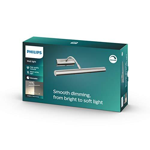 Philips myLiving Wandleuchte Matisse 2-flammig dimmbar 28 W, stahl gebürstet 330871716