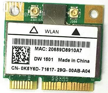 DW1501 Broadcom BCM94313HMG2L WLAN 802.11n Wireless WiFi Half Mini PCI-E Card for Laptop Internal Network Ethernet Adapter