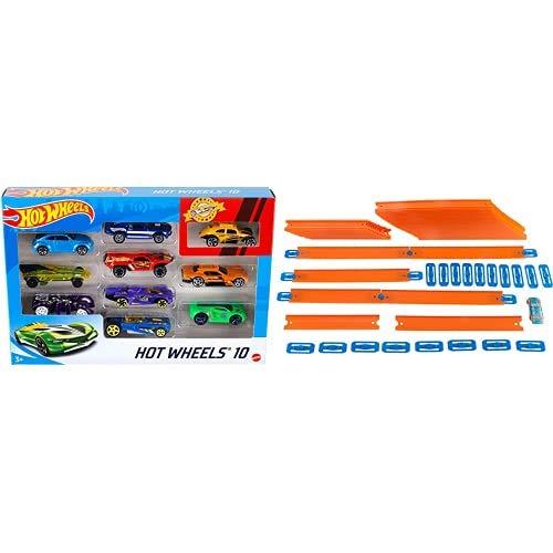 Hot Wheels 54886 1:64 Die-Cast Auto Geschenkset, je 10 Spielzeugautos, zufällige Auswahl, Spielzeug Autos ab 3...