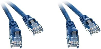2 Pack Cat5e Super-cheap Ethernet Patch Cable Boot Molded Special price for a limited time 4 B Feet Snagless