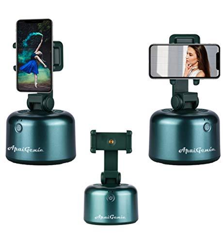 APAI Genie II tragbarer All-in-One Selfie-Stick für automatisches Fotografieren, 360 Grad drehbar, Auto-Gesicht-Tracking, Objektverfolgung, Vlog, Kamera, Handyhalterung (grün)