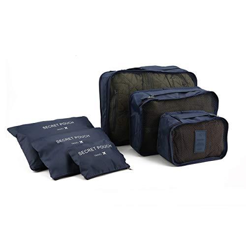 Ashley GAO Estilo coreano portátil duradero ecológico 6 piezas/set cuadrado de viaje para el hogar bolsas de almacenamiento de equipaje bolsa organizador de ropa bolsa de la bolsa