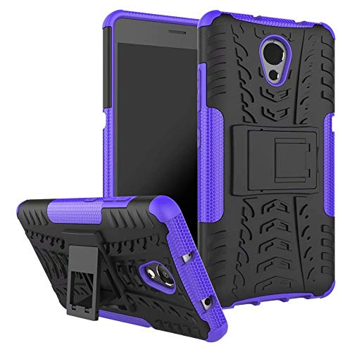Smfu Case for Lenovo VIBE P2 Case Hybrid Rugged Heavy Case Built-in Kickstand,with screen protector 2 pack 360 degree bumper Dual Layer Rugged Full-Body Shockproof Non-slip Case(Purple)