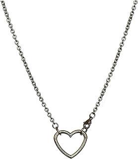 Necklaces البساطة قلادة سلسلة من الصلب التيتانيوم، قلادة شخصية زوجين بسيطة، يمكن أن يكون الحب قلادة سبائك قلادة Necklace f...