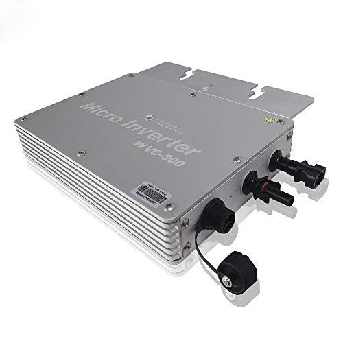 Y&H 300W Grid Tie Inverter MPPT Waterproof Multiple Parallel Stacking DC22-50V Pure Sine Wave Inverter für 36V Solar Panel, kompatibel mit AC230V Power Grid WVC-300W-220V