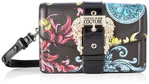 Versace Jeans, Borsa a spalla Donna, Nero (Nero), 10x16x24,5 cm (W x H x L)