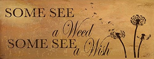 Homebody Accents Some See a Weed Some See a Wish Metal Sign, Wish, Dandelion, Seeds, Inspirational Quote, Positive Living