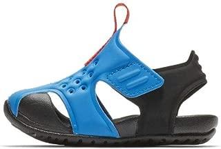 Nike Toddler Kid's Sunray Protect 2 Sandal, Photo Blue/Bright Crimson-Black, 2 M US Infant