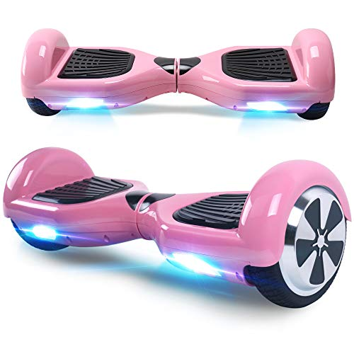 "BEBK Hoverboard, 6.5"" Self Balance Scooter mit 2 * 250W Motor, LED Lights Elektro Scooter (Pink)"