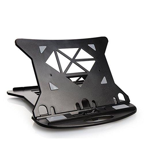 EsportsMJJ FEVERWORK Cooskin YDA006 Ventilated 360 Degree Swivel Foldable Durable Laptop Stand Phone Tablet Holder - Black
