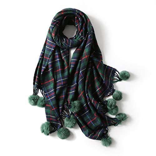 YONGYONG-scarf Schal Weiblicher Japanischer Winterschal Koreanische Version des Neuen Wilden Doppelseitigen Kaninchenhaarballs Langen Dual-Use-Damen...