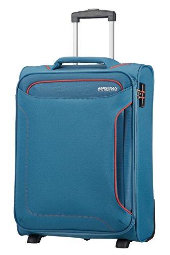 American Tourister Holiday Heat - Upright Equipaje de Mano, 55 cm, 42 l, Azul (Denim Blue)