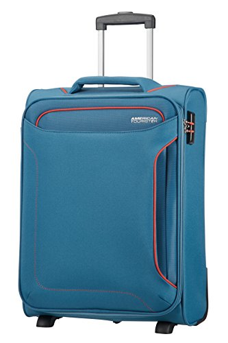 American Tourister Holiday Heat - Upright Equipaje de Mano, 55 cm, 42 l, Azul (Denim Blue)