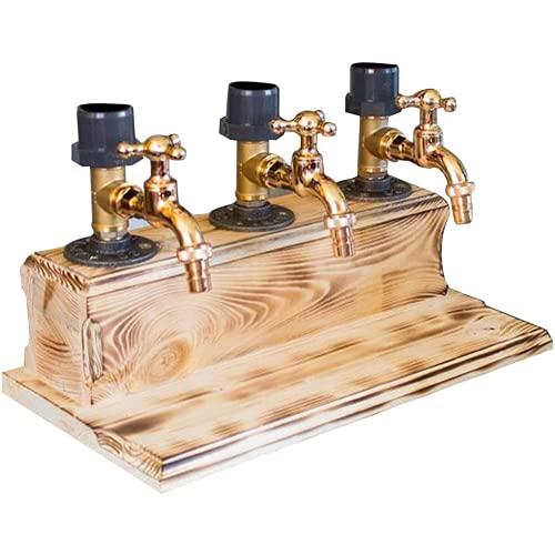 FSfhgEy Dispensador de Madera de Whisky, dispensador de Bebidas y Bebidas con Grifo, día del Padre, Licor, Alcohol, Whisky, dispensador de Madera, Forma de Grifo