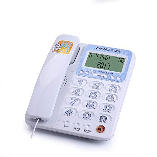 Teléfono Fijo Hogar Anciano Línea terrestre Oficina Luz Nocturna Botón Grande Tono de Llamada Pantalla Grande LCD Rojo (Color : Blanco): Amazon.es: Electrónica