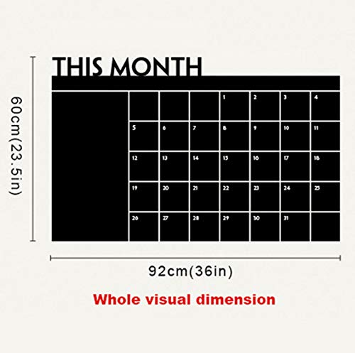 Sein Monat Diy Monatliche Tafel Kalender Planer Memo Abnehmbare Vinyl Wandtattoo Aufkleber Tapete 60 * 92 Cm 2015 Wohnkultur