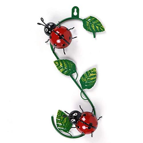 Shoplifemore Decoraciones de abeja de metal con diseño de abejorro de pared,...