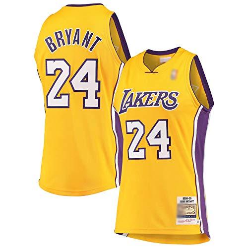 THDB Camiseta de baloncesto personalizada Kobe Los Angeles NO.24 Oro, Lakers Bryant Hardwood Classics 2008-09 Jersey Transpirable Casual Camisetas Para Hombres