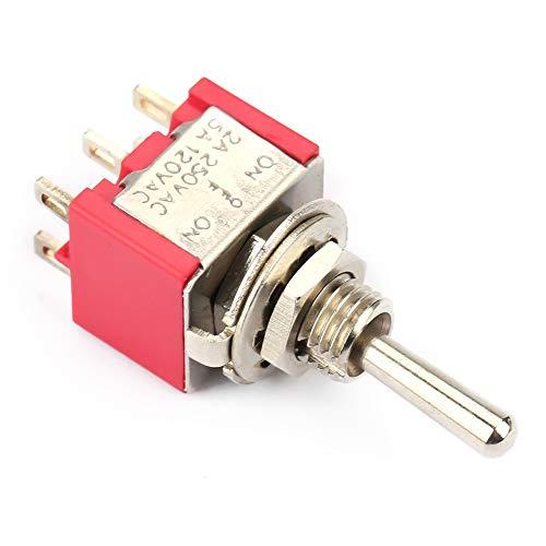 Interruptor de palanca momentánea on-off-en plástico, Hierro hecho 2A / 250VAC, 5A / 120VAC MTS-203 3 POSICIÓN Cambio de palanca momentánea