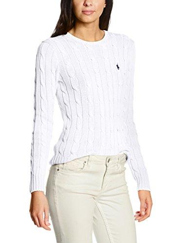 Polo Ralph Lauren Julianna LS Swt Felpa, Weiß (White B1E05), 44 Donna