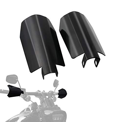 Motorcycle Handguards Black Coffin Cut Stainless Steel Hand Guards for Harley Touring Street Glide Road King Electra Glide Bagger 2014-2020 with Hydraulic Clutch (Large)