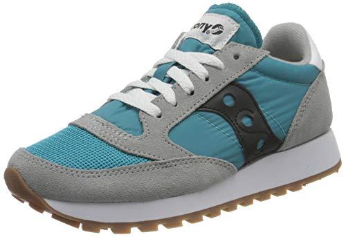 Saucony Jazz Original Vintage, Sneaker Uomo, Grey/Capri/Blk, 42.5