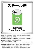1枚から・スチール缶_横15.4cm×高さ16.7cm_防水野外用_分別ごみサインボード