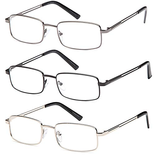 Reading Glasses 3X Stainless Flex 2.50 Readers