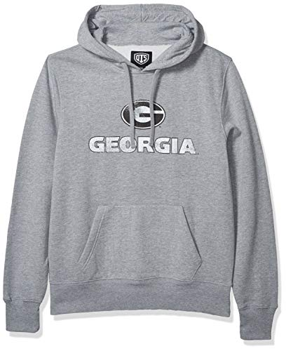 OTS NCAA Georgia Bulldogs Men's Fleece Hoodie, Iced, Medium
