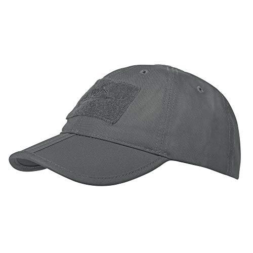 Helikon Tex - Gorra de béisbol Plegable para Hombre, algodón Ripstop, Gris, Talla única