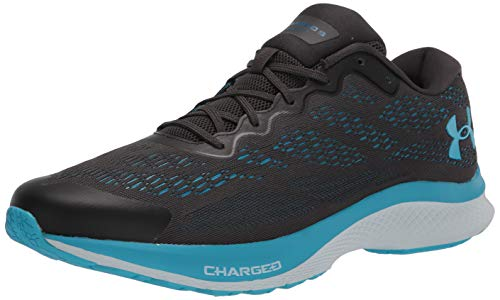Under Armour Women's Charged Bandit 6 Running Shoe, Jet Gray (103)/Skylight, 8.5