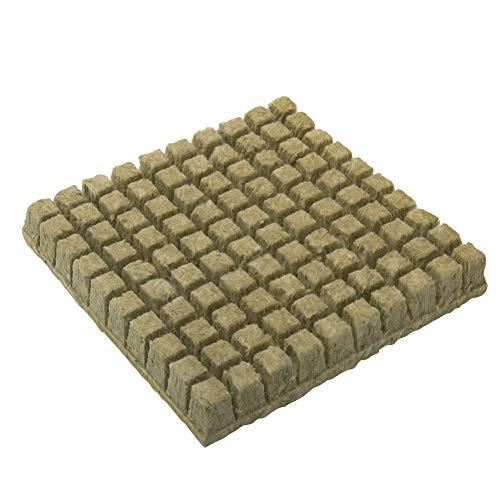 Cubos de lana de roca, cubitos de crecimiento, hojas de inicio, multifunción, base de compresa de invernadero, mini plantación hidropónica de lana de roca ventilada